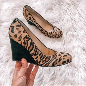 Stuart Weitzman Leopard Calf Hair Wedge